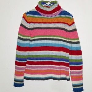 GAP | Cozy Cableknit Striped Turtleneck Sweater